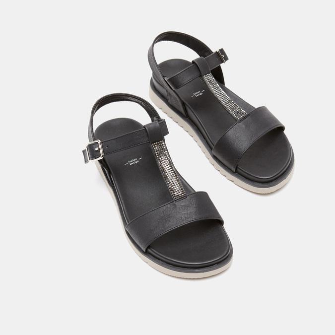 Sandales à bride bata, Noir, 561-6705 - 19