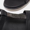 Sandales à bride bata, Noir, 561-6705 - 15