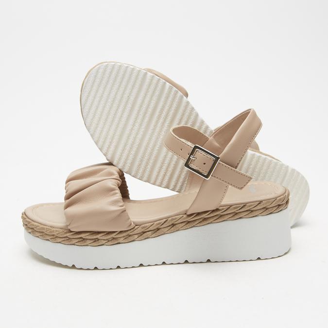 Sandales à plateforme bata, Rose, 761-5289 - 19
