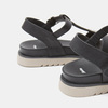Sandales à bride bata, Noir, 561-6705 - 26