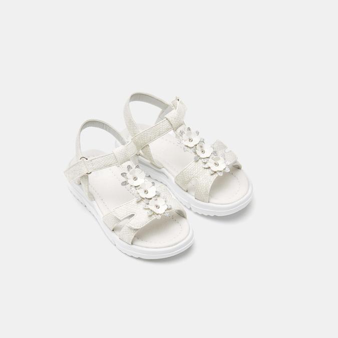 Sandales fille mini-b, Blanc, 261-1269 - 19