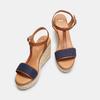 Sandales compensées bata, Bleu, 769-9916 - 17