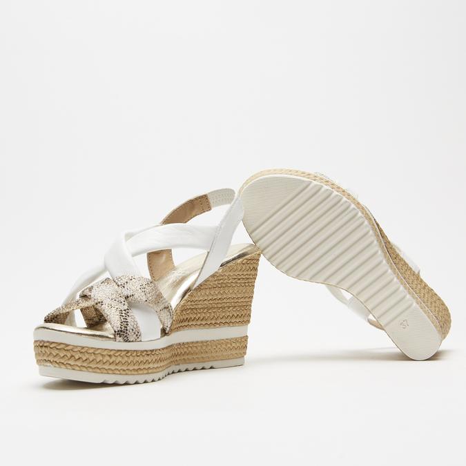 Sandales à plateforme bata, Blanc, 764-1158 - 15