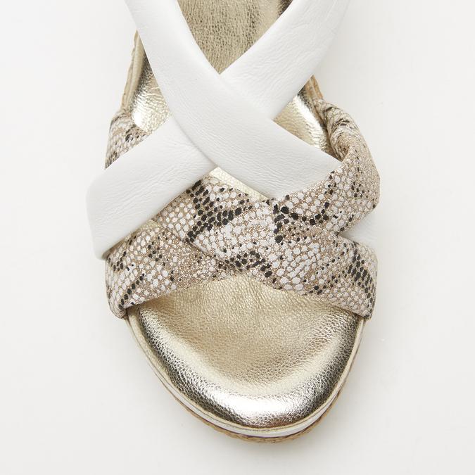 Sandales à plateforme bata, Blanc, 764-1158 - 26