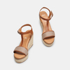 Sandales compensées bata, Jaune, 769-8916 - 16