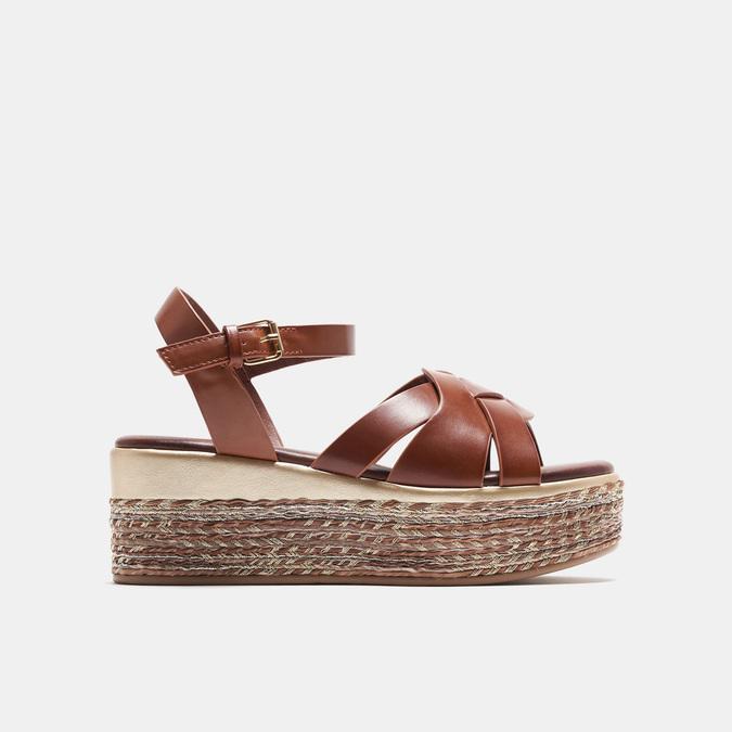 Sandales compensées bata, Brun, 761-3923 - 13