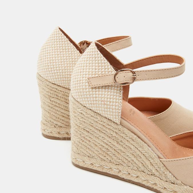 Sandales compensées bata, Beige, 769-8921 - 26