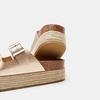 Sandales femme à plateforme bata, Or, 661-8502 - 15