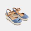 Sandales compensées bata, Bleu, 769-9912 - 26