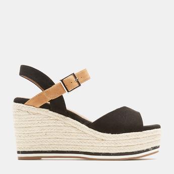 Sandales compensées bata, Noir, 769-6912 - 13