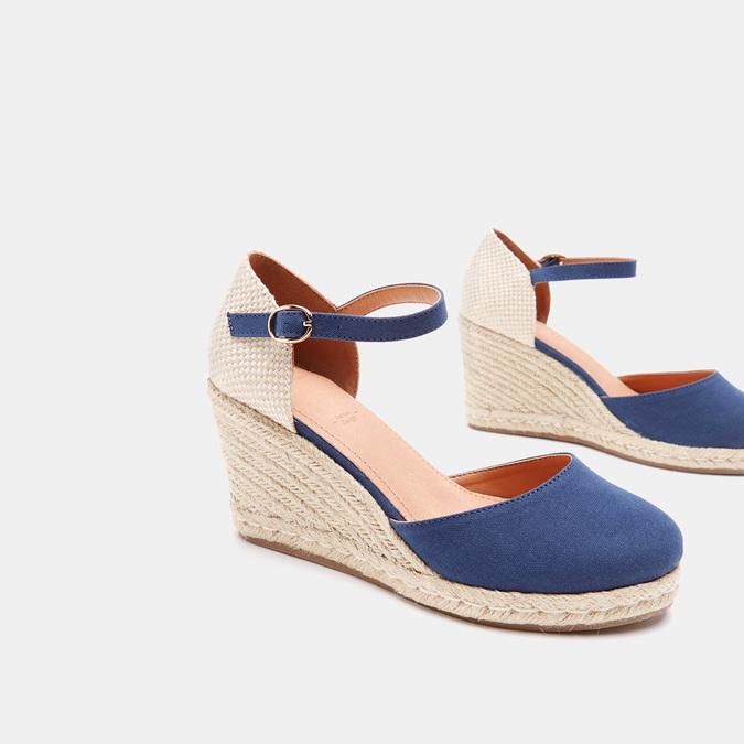 Sandales compensées bata, Bleu, 769-9921 - 15