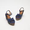 Sandales compensées bata, Bleu, 769-9920 - 26