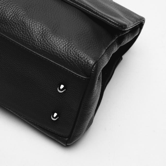 sac à main en vrai cuir bata, Noir, 964-6152 - 15