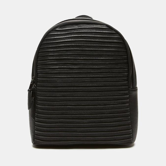 sac à dos à effet matelassé visible bata, Noir, 961-6188 - 13