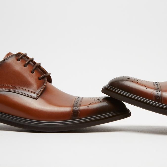 chaussures basses en cuir homme bata, Brun, 824-3172 - 15