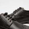 chaussures basses brogue en cuir flexible, Noir, 824-6147 - 16