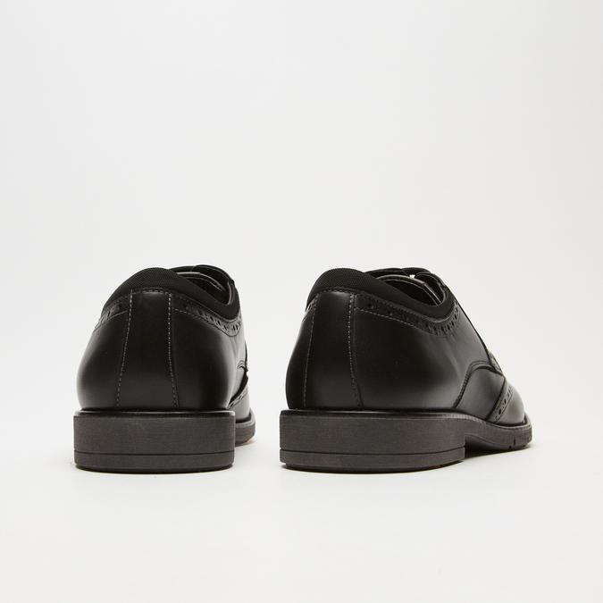 chaussures basses brogue en cuir flexible, Noir, 824-6147 - 19
