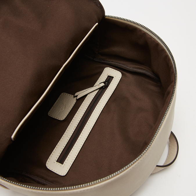sac à dos à effet matelassé visible bata, Beige, 961-8188 - 17