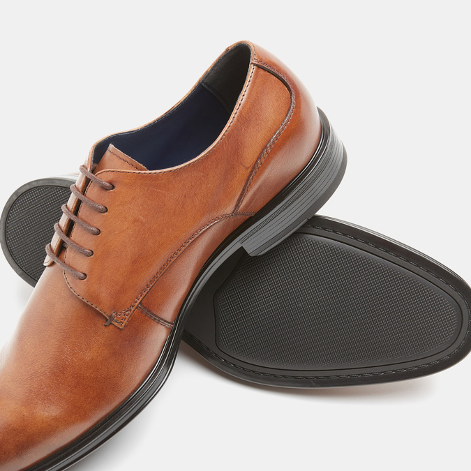 chaussures basses en cuir homme, Brun, 824-3110 - 15