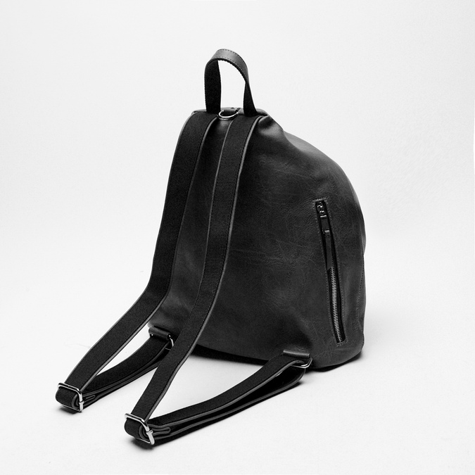 sac à dos clouté à fermeture éclair bata, Noir, 961-6284 - 16