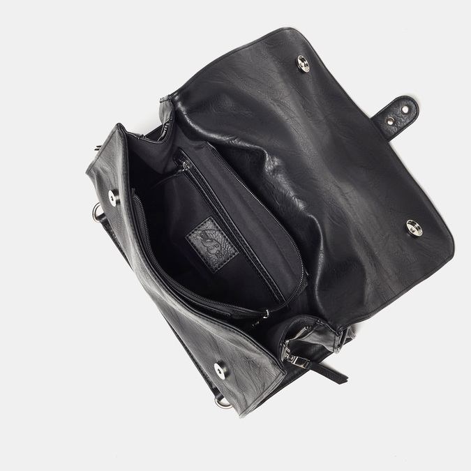 sac à main clouté à chaînette bata, Noir, 961-6247 - 17