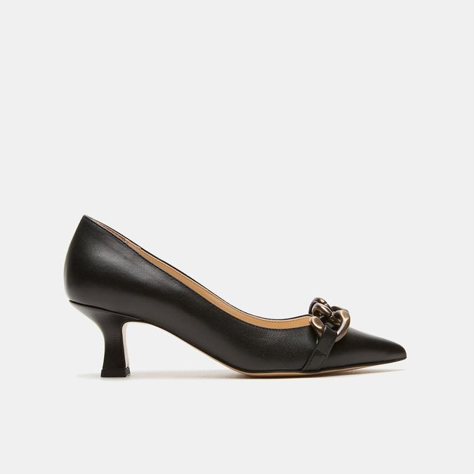 escarpins pointus en cuir bata, Noir, 624-6152 - 13