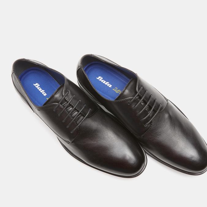 chaussures basses en cuir homme bata-24h, Noir, 824-6110 - 16