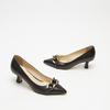escarpins pointus en cuir bata, Noir, 624-6152 - 15