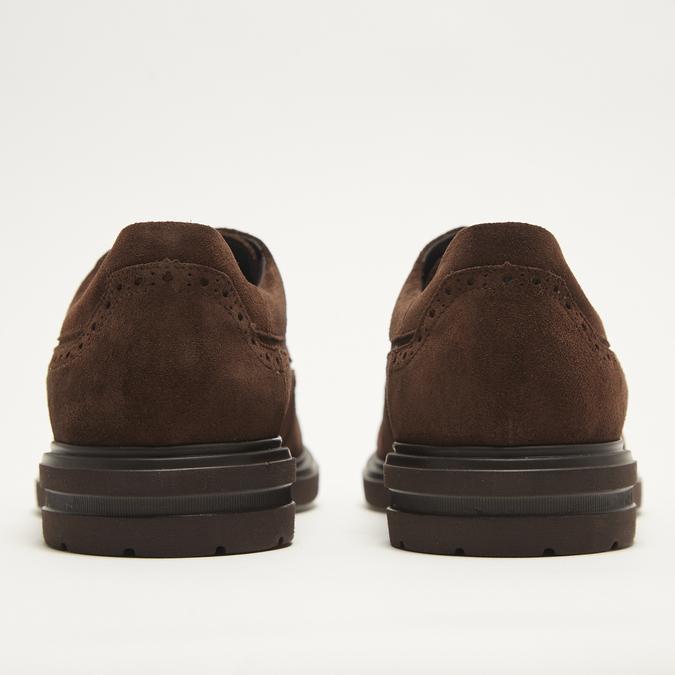 chaussures basses brogue en suède bata, Brun, 823-4129 - 17