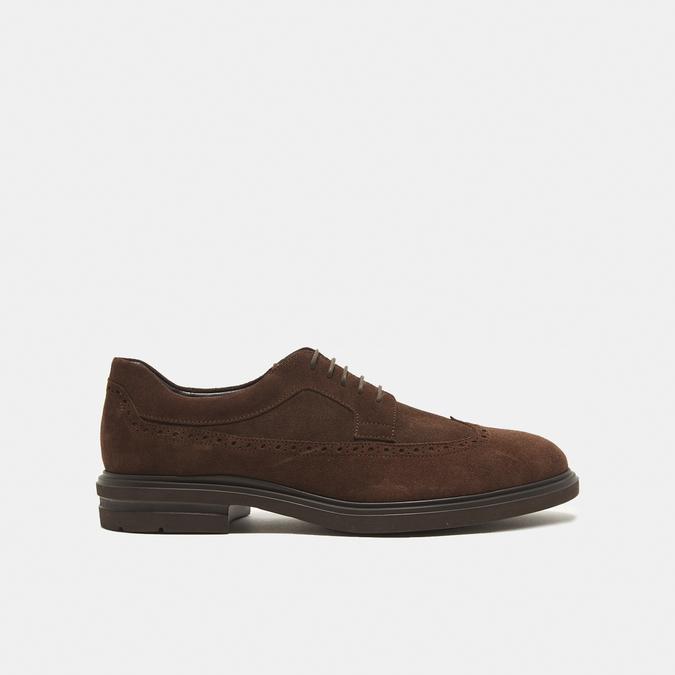 chaussures basses brogue en suède bata, Brun, 823-4129 - 13
