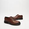chaussures basses brogue en cuir bata, Brun, 824-4119 - 16