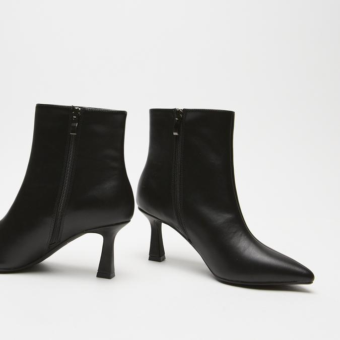 bottines pointues à effet mat bata, Noir, 791-6754 - 16