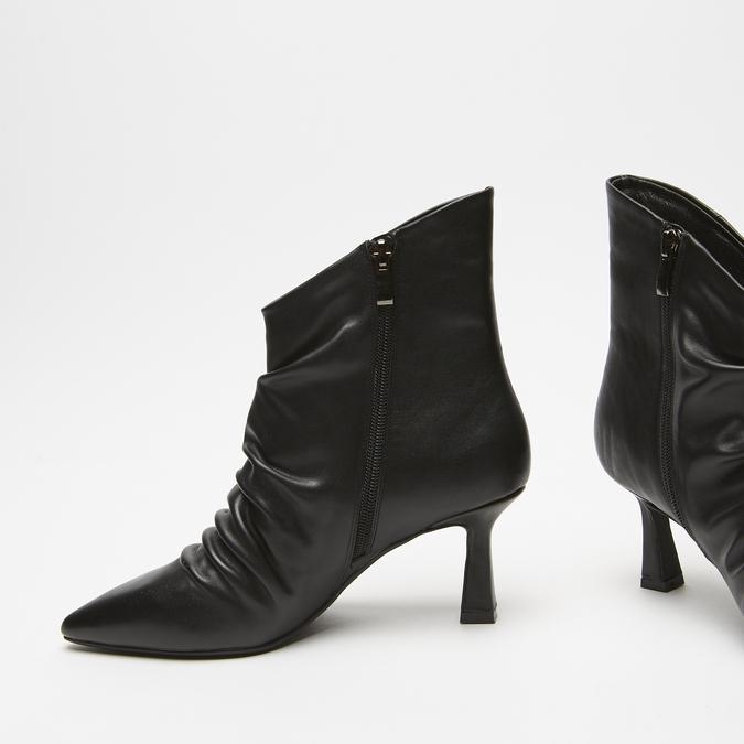 bottines en vrai cuir à effet ondulé bata, Noir, 794-6764 - 15