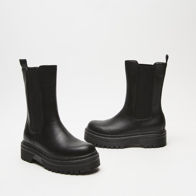 bottines chelsea à plateforme bata, Noir, 591-6489 - 16