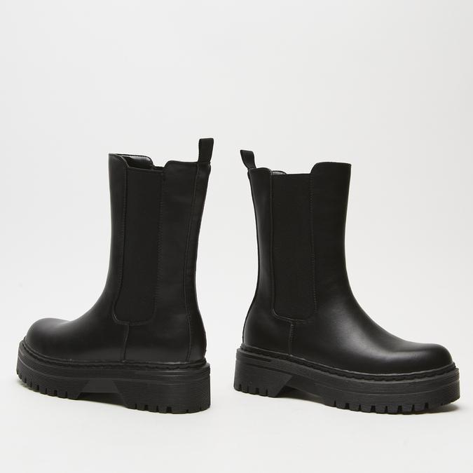 bottines chelsea à plateforme bata, Noir, 591-6489 - 15