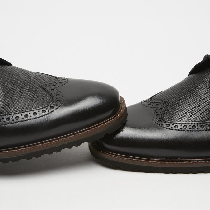 chaussures basses brogue en cuir bugatti, Noir, 824-6250 - 16