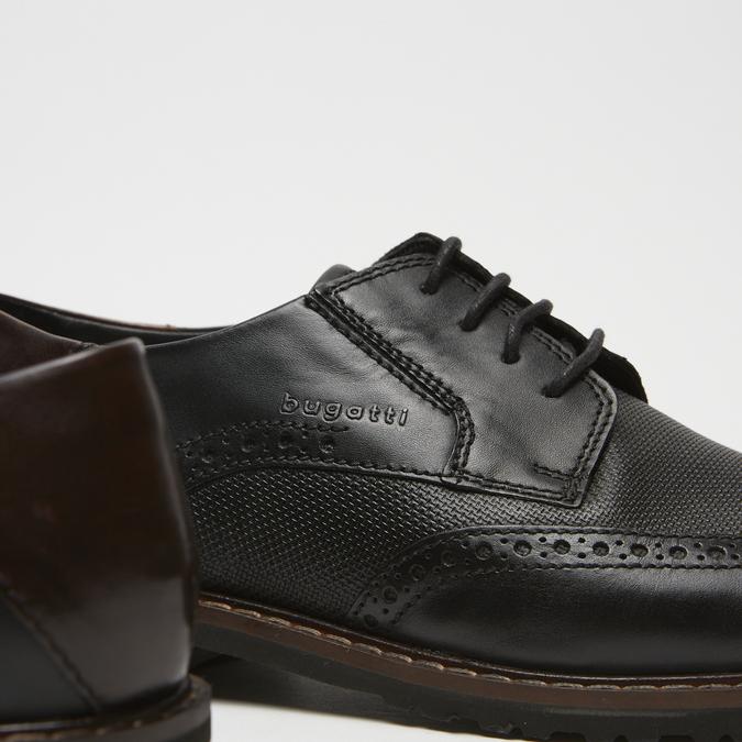 chaussures basses brogue en cuir bugatti, Noir, 824-6250 - 15