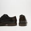 chaussures basses brogue en cuir bugatti, Noir, 824-6250 - 17