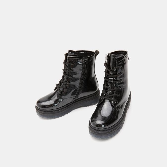 bottines à effet brillant et semelle track mini-b, Noir, 391-6180 - 16
