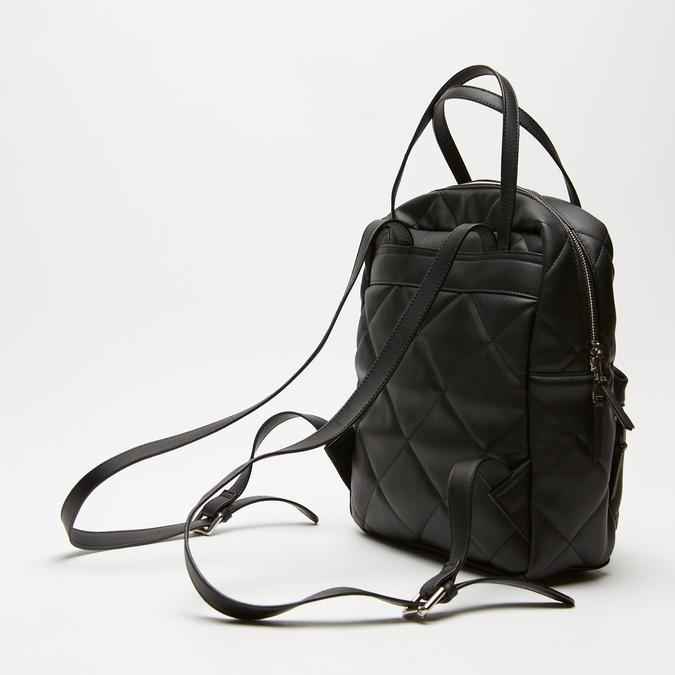 sac à dos à effet matelassé femme bata, Noir, 961-6350 - 15