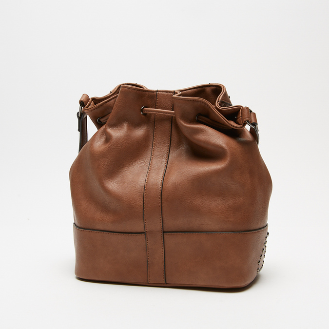 sac bucket clouté bata, Brun, 961-3149 - 15
