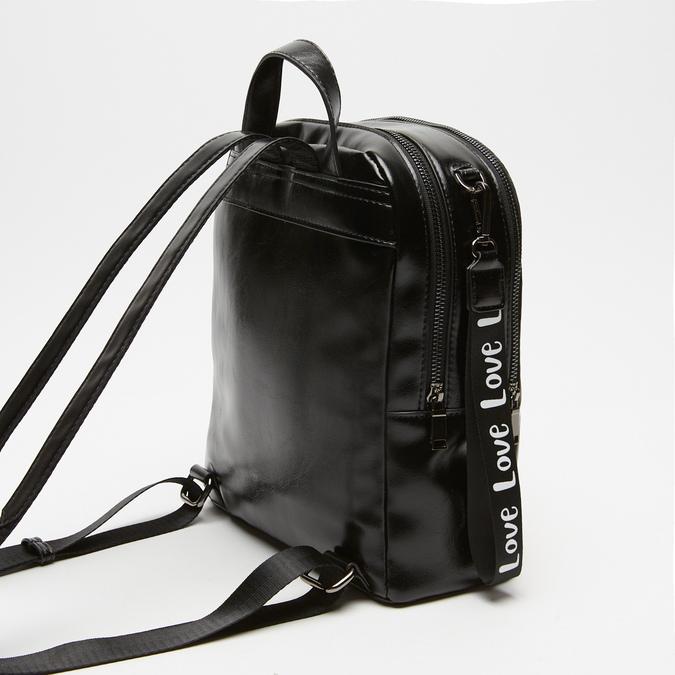 sac à dos à effet brillant bata, Noir, 961-6155 - 15