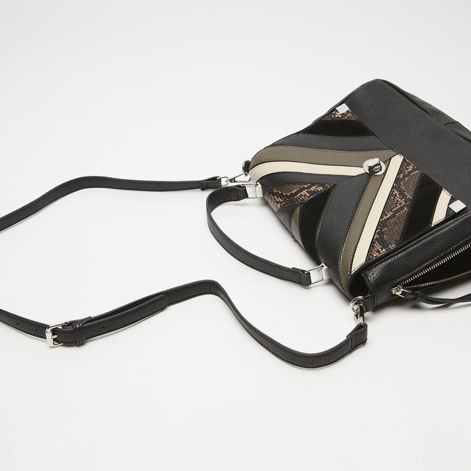 sac à main avec détails animaliers bata, Noir, 961-6255 - 15