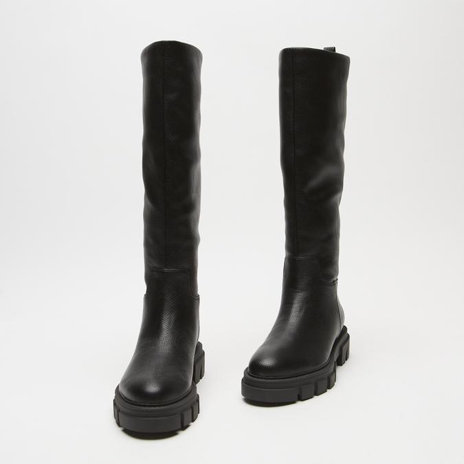 combat boots à semelles track bata, Noir, 591-6564 - 26
