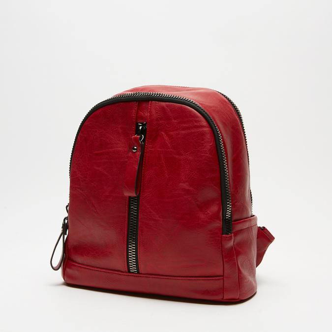 sac à dos à double fermeture éclair bata, Rouge, 961-5334 - 26