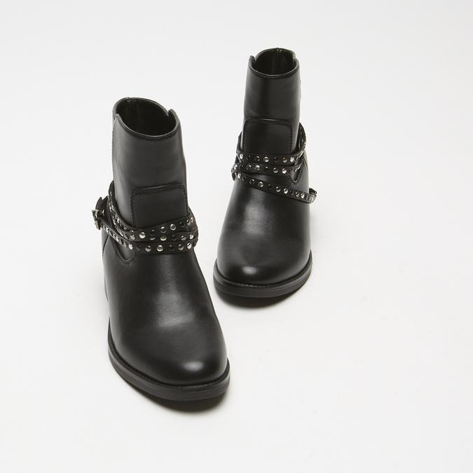 bottines à boucle bata, Noir, 591-6575 - 26