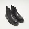 bottines chelsea à piqué brogue flexible, Noir, 894-6138 - 26