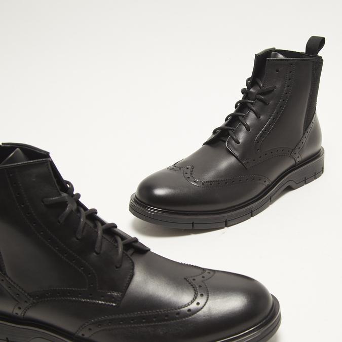 bottines brogue en cuir flexible, Noir, 894-6128 - 16
