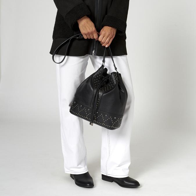 sac bucket clouté bata, Noir, 961-6149 - 19