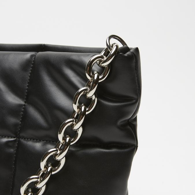 sac à main à effet matelassé bata, Noir, 961-6136 - 16